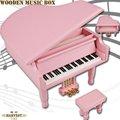 madera de música de piano caja de joyería
