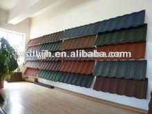 COLORFUL STONE COATED METAL ROOFING TILE (green back 1340MM*420MM) manufacturer