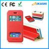 Newest cheap flip leather mobile phone case for iphone 4/4s