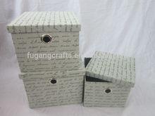 set 3 popular fabric storage box with lid