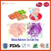 FDA LFGB Silicone Bakeware, Cake Mould, Ice Cube Trays