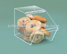 clear acrylic bread storage or acrylic bread display case