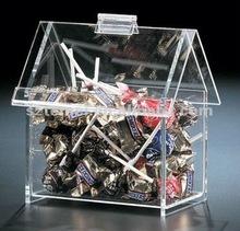 Casa - em forma de doces acrílico bin ou caixa acrílica dos doces