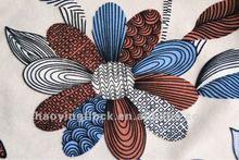 2012 latest flock print fabric for sofa