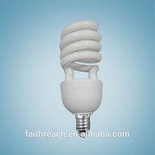 Half spiral edison light bulb, E27 energy saving bulb