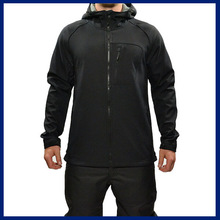 Waterproof Hooded Mountain Black Softshell Mens Jackets Leisure 2015