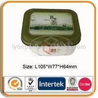 Wholesale rectangular tin box for tea