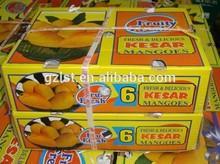 Wholesaler carton fruit packaging box for mango and cherry/la mango y cereza caja