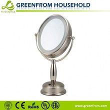 Double-sides table style oval mirror frame