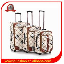 nice universal wheel rolling PU trolley suitcase