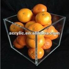 2012 latest design simple clear acrylic fruit dish