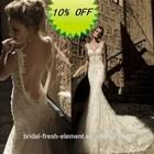 Hot Sale Long Luxurious Good Quality Organza Beaded Lace Appliqued Ruffled Skirt Alibaba Wedding Dress 2014