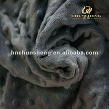 toy fabric material dot minky fleece super soft velvet brushed plush fabric