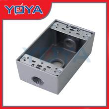 Deep 3 Holes Rigid Aluminum One Gang Weatherproof Electrical Boxes