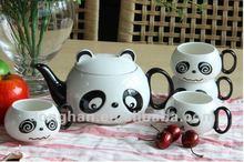 Cartoon ceramic panda design tea set novelty product chinese
