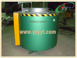 500kg Tilting fuel gas graphite crucible melting furnace