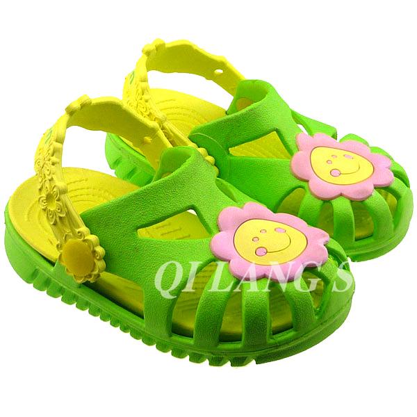 لطيف الاطفال تسد الأحذية holey ايفا الكرتون