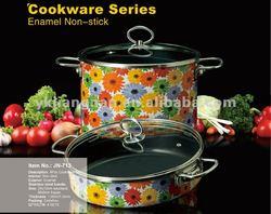 4 Pieces Decal Enamel Cookware Sets
