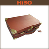 Oak and Genuine Leather Ammo Box