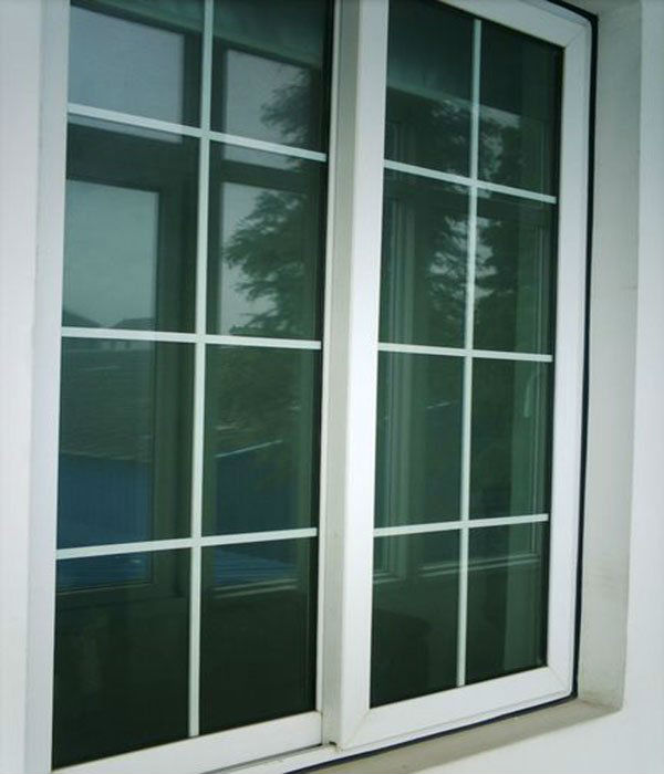 Double glass aluminium sliding window grill design buy for Sliding window design for home