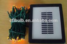 100 Clear Mini Bulbs Solar LED Christmas Light On pvc wire