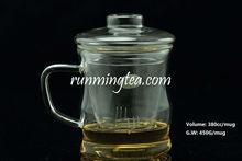 "380ml Borocilicate ""Bamboo Node"" Glass Tea Maker with Insert Filter"