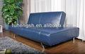 2013 conversível azul pu sofá-cama futon