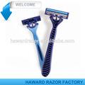Máquina de afeitar desechables - triple hoja con la tira de lubricante