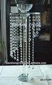 ¡Barato! Centros de mesa con cascadas de cuentas de cristal y soporte de flor para bodas (BS-CH035)
