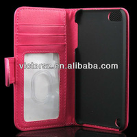 NEW for iPod Touch 5 Wallet Leather Credit Card ID Case Cover 5G 5th Gen Flip