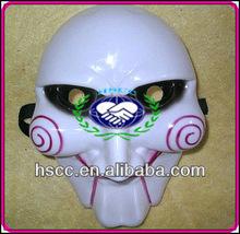 China Manufacturer Halloween Plastic Horror Movie Saw Mask