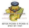 Pc300-3 pc400-5 escavadeira bomba de água, motor 6d125 6151-61-1101