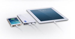 Newest patent product battery back!! 2 USB power bank for tablet pc and smartphones
