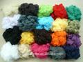 çin kökenli toptan geri dönüşümlü polyester elyaf 1.2d to15d iplik, doldurma veya non- woven
