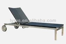 #304 stainless steel sun lounger-LS63009