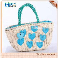 2015 New Style Fashion Decorated Straw Basket Bag