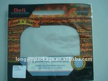 slide zipper grilled chicken bag/chicken plastic bags/resealable ziplock bag for hot chicken