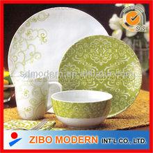 16pcs dinner set in fine porcelain with imprinting