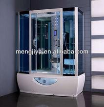Emily hangzou Mengjiya cheap indoor steam room with sliding door wheel bathroom designs generator