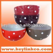 round ceramic bowl with dot