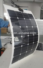 semi flexible 150W American sunpower panel solar for boats, caravans, launch & mobile homes used with CE certified
