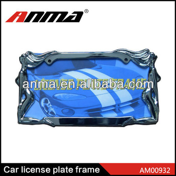american style aluminum car License Plate Frame