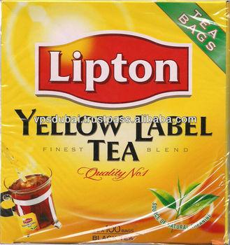 Yellow Label Lipton Tea Bags.