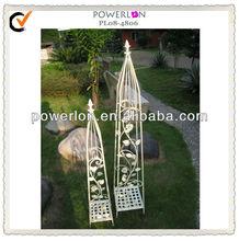 Set of 2 unique metal garden obelisk trellis