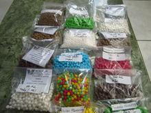 Colored tapioca pearls