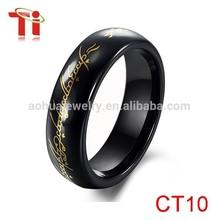 dongguan alibaba cn men ring model, women black ceramic ring