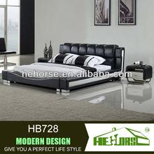 Modern sofa bedroom furniture leather double adult metal bed frame