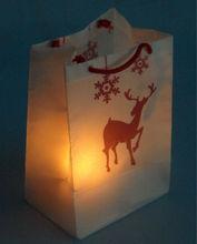 Christmas Deer Lantern Bag with LED Tealight