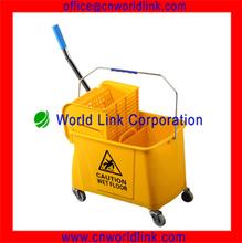 plastic cleaning single mop bucket