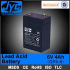 VRLA MSDS sealed lead acid battery 6v 4ah rechargeable lead acid battery